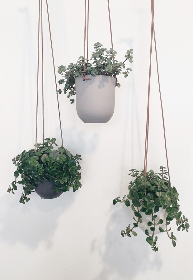 Ditte Fischer hanging planters | These Four Walls blog