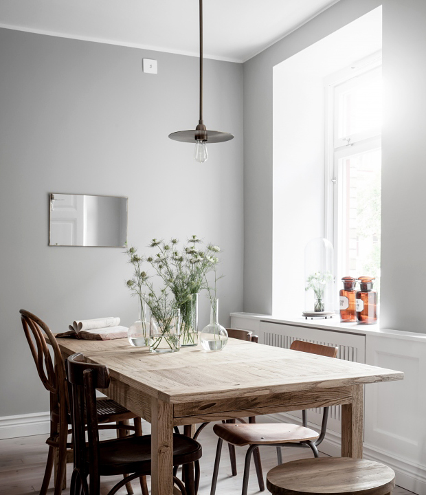 A simple but striking dining room | These Four Walls blog