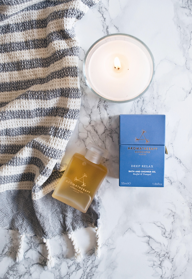 Review | Aromatherapy Associates 'Deep Relax' bath oil | These Four Walls blog