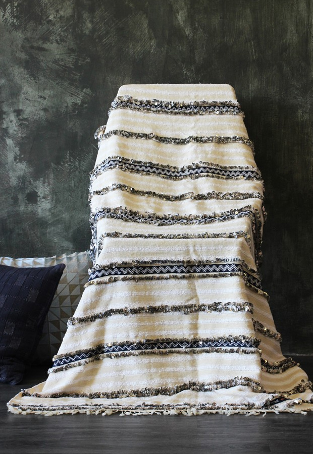 Moroccan wedding blankets from Rockett St George | New furniture and homeware finds | These Four Walls blog