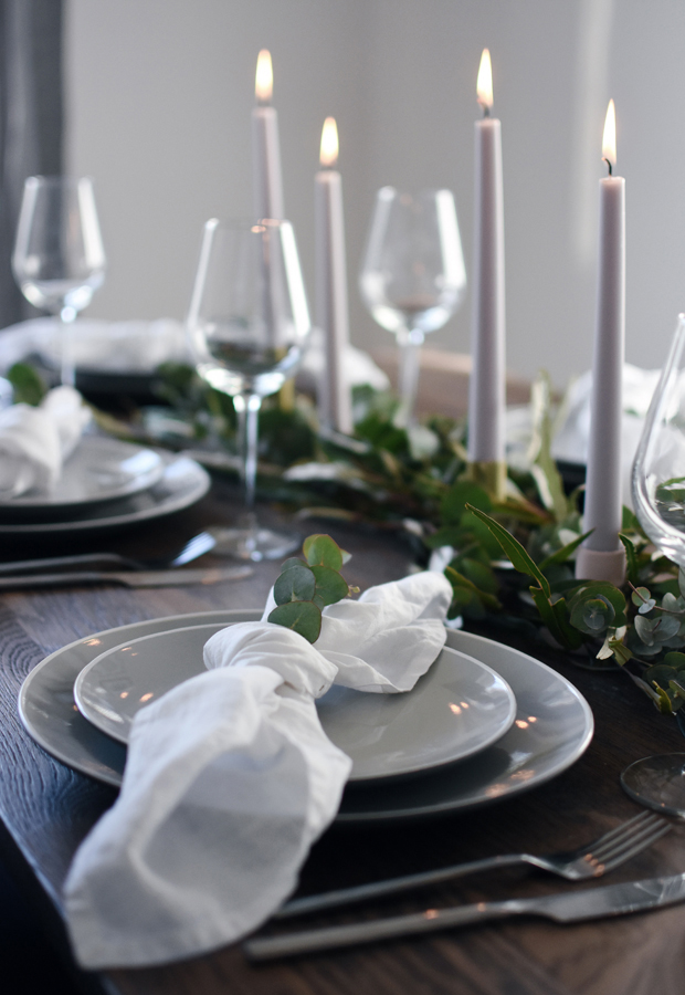 Simple Christmas table styling   These Four Walls blog