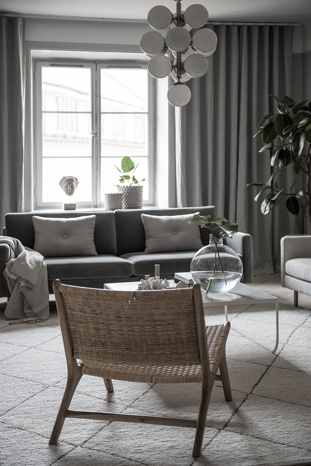 Home tour | An elegant Swedish apartment in soft shades of grey | These Four Walls blog