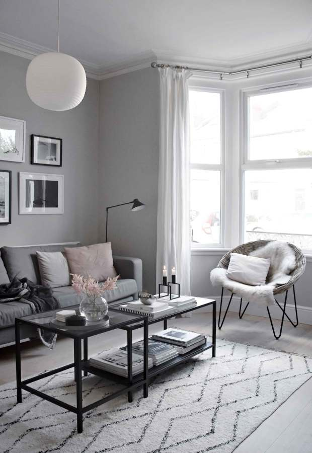 My soft, minimalist living-room makeover   The reveal ... on Minimalist Living Room  id=17691