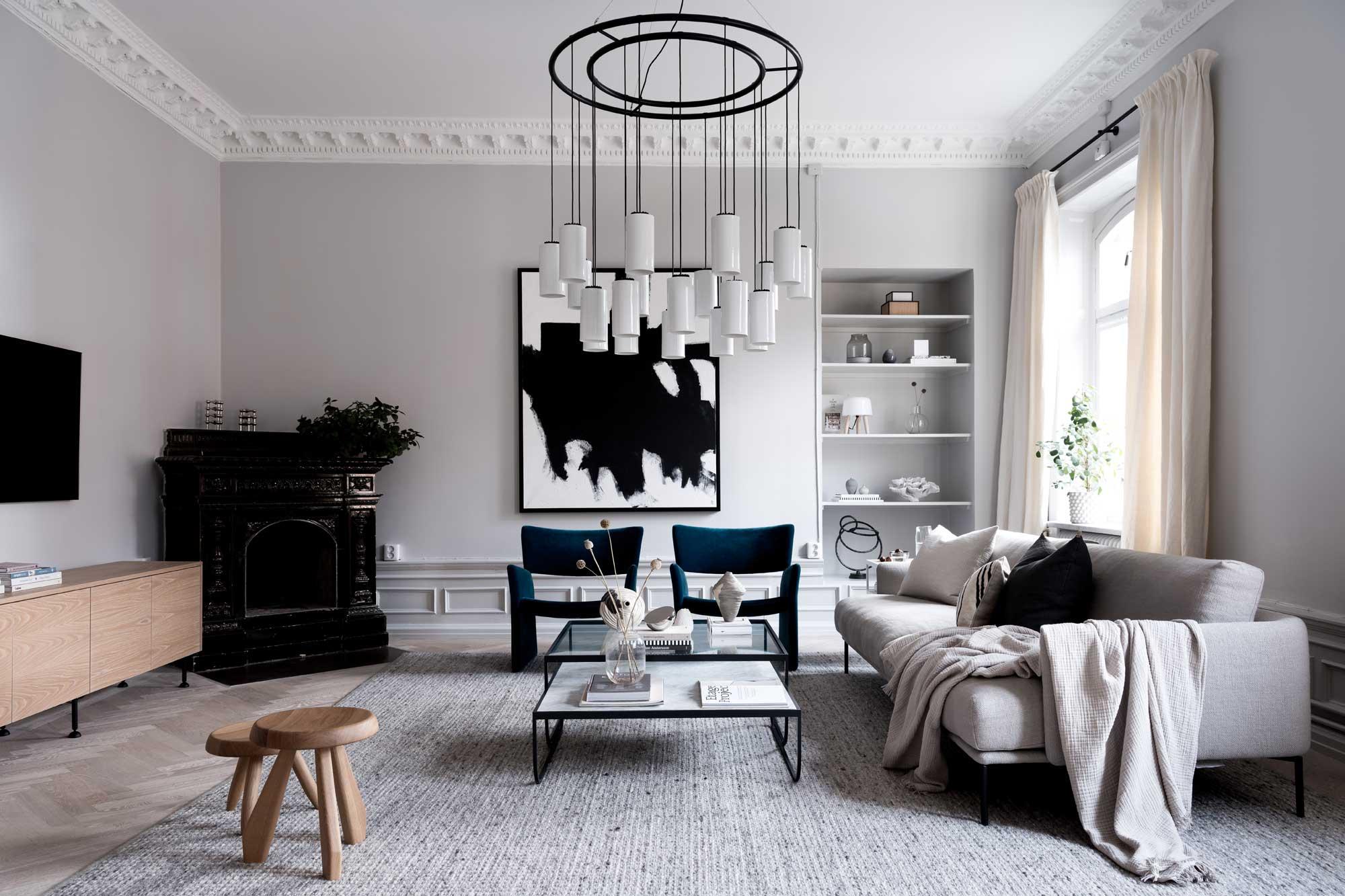 Home Tour | An Elegant Family Apartment In Stockholm