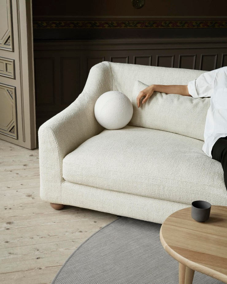 IKEA sofa customised with beige bouclé covers from Bemz's new 'Tactile Collection' | New finds - July 2021 | These Four Walls blog