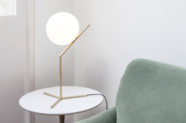 The minimalist brass 'IC' table lamp by Flos | The design classics of the future | These Four Walls blog