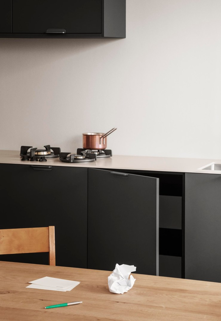 A stylish IKEA kitchen hack featuring dark grey fronts and white Silestone worktops from Reform's functional new 'UNIT' collection | New finds - July 2021 | These Four Walls blog