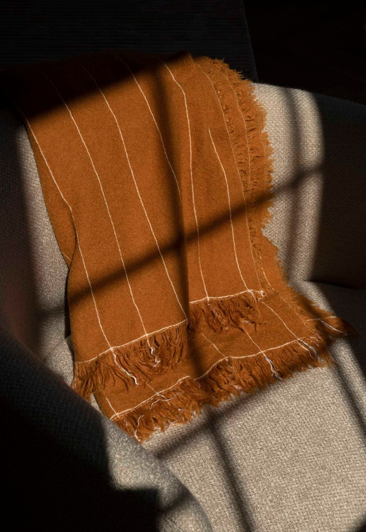 Home textiles in warm autumnal colours and earthy neutrals from Danish design brand Menu   These Four Walls blog