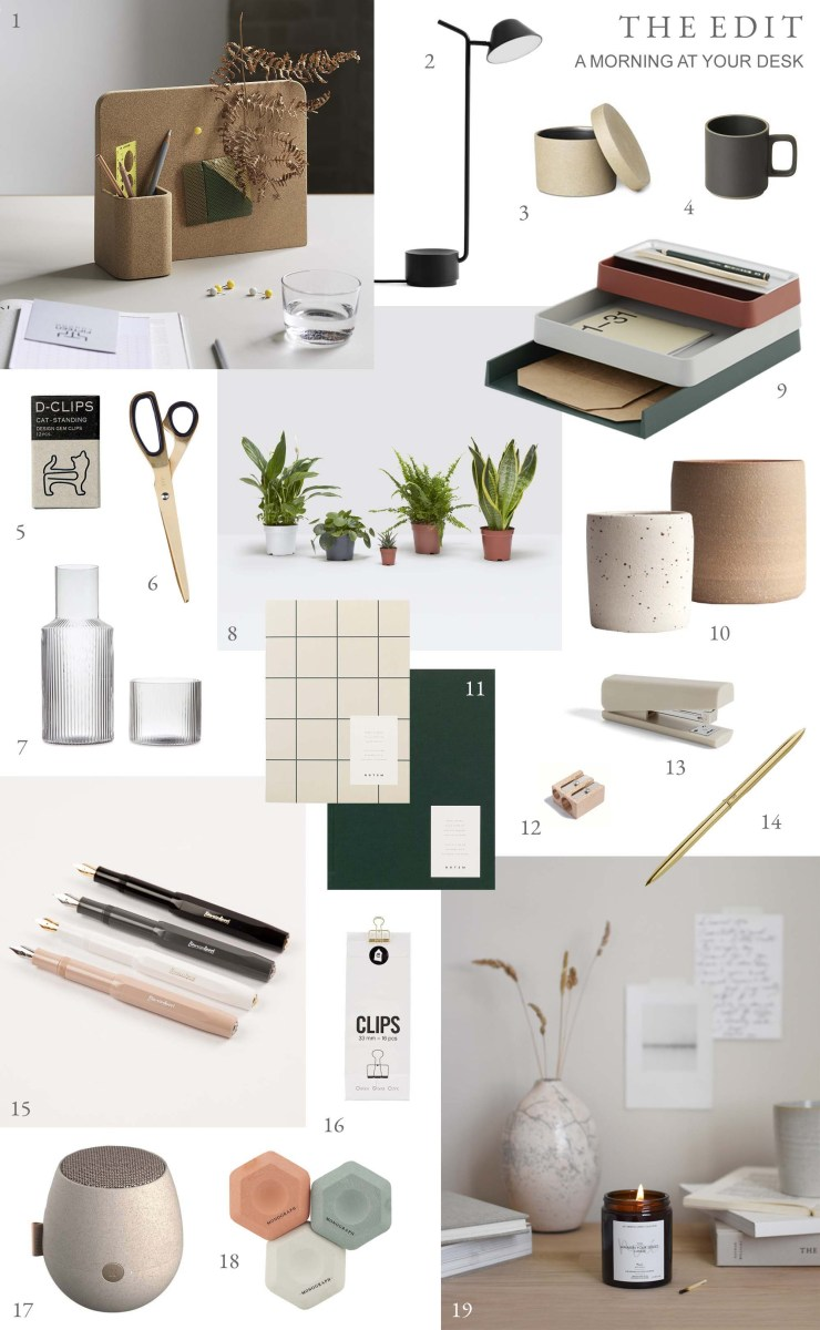 The Edit - minimalist desk accessories for more enjoyable working from home   These Four Walls blog