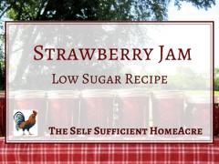 strawberry jam low sugar recipe