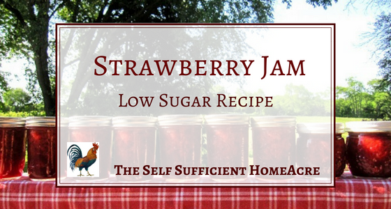strawberry jam low sugar recipe