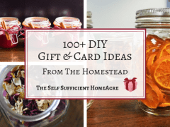 DIY Gifts & Cards from the Homestead