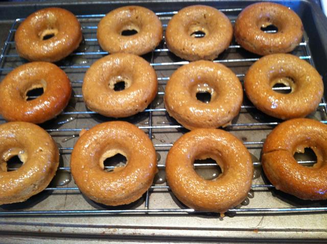 Baked Apple Donuts with Caramel Glaze Recipe