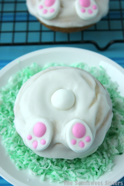 Easter Bunny Butt Donuts