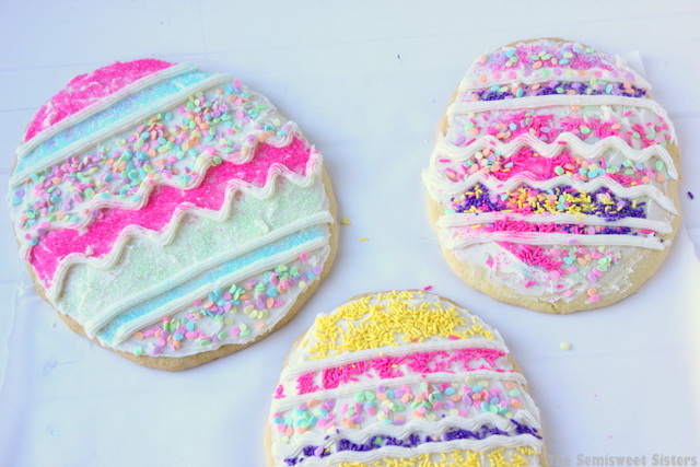 Giant Easter Egg Sugar Cookies