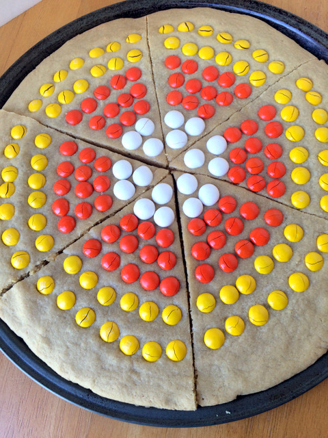 Giant M&M Candy Corn Cookie Recipe
