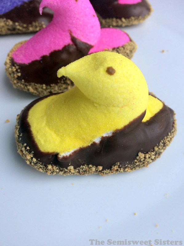 S'mores Dipped Easter Peeps