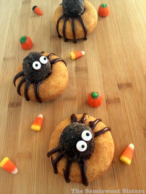 Halloween Spider Donuts
