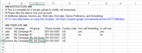 Finally! Bulk Upload Support For Adwords Call Extensions