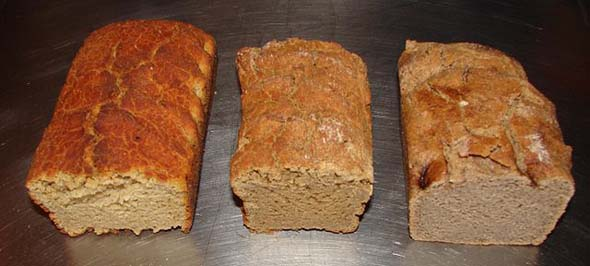 Organic breads of quinoa, teff and buckwheat. (Photo: Eurobas)