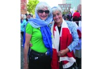 """""""I would love to see somebody like Madame Marois walk into a hospital and refuse treatment from a doctor wearing a religious symbol. Do I think that would happen? Never. The cross on Mount Royal will not be taken down. What's right for some is right for everybody."""" ~ Anita Blanshay (right), lifelong volunteer"""