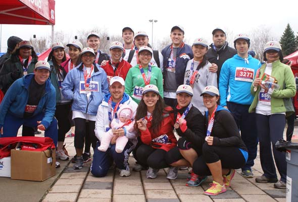 Mary Mawaj & friends at the 2014 Scotiabank Charity Challenge