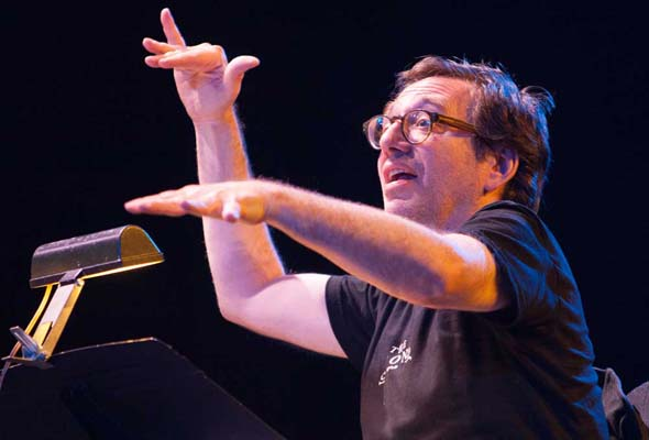 John Zorn performs The Concealed. Photo by Martin Morissette