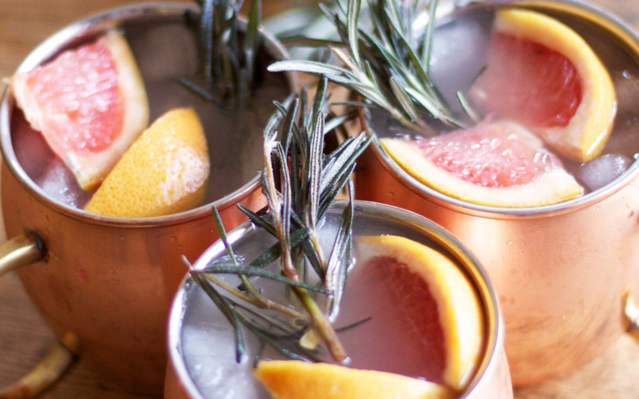Moscow Mule with a Twist of Grapefruit