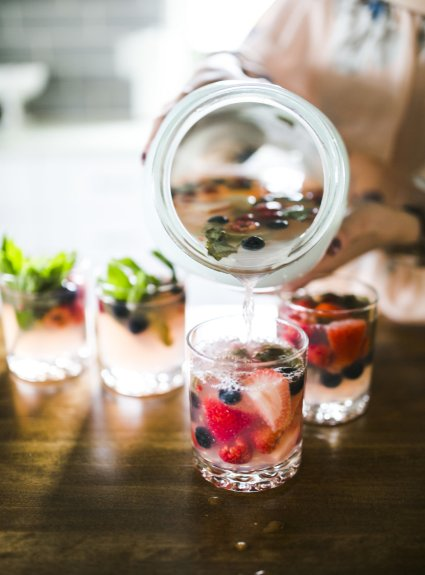 Wild Berry Mojitos by the Pitcher