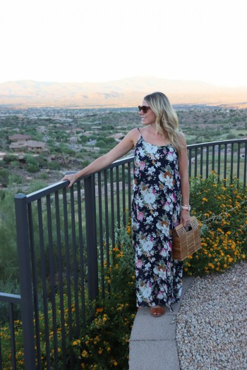 Love this floral maxi for fall