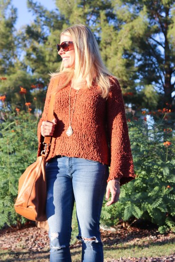 This bell sleeve sweater is perfect for Fall