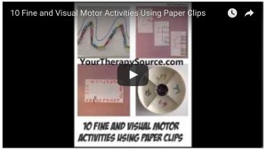 Fine and Visual Motor Activities