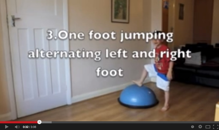 13 OT Mini Trampoline and Bosu Ball Exercises for Kids