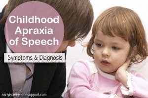Childhood Apraxia of Speech Symptoms and Diagnosis