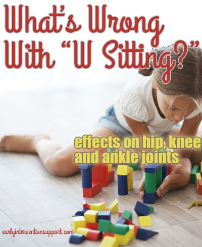 What Is Wrong with W Sitting in Children?