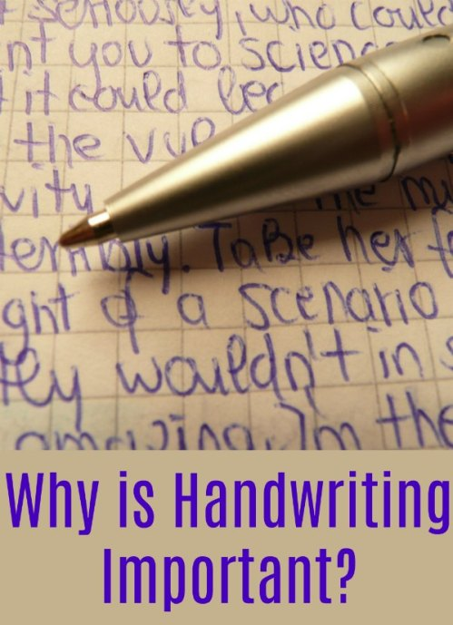 Why is Handwriting Important?