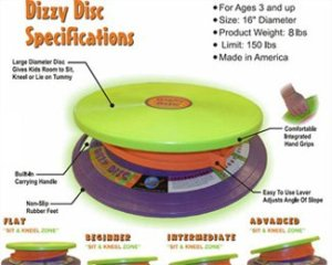 Dizzy Disc (Gross Motor, Vestibular Toy)