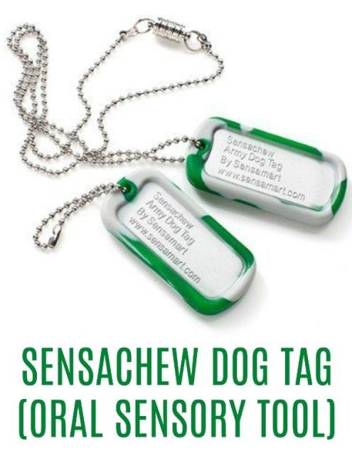 Sensachew Dog Tag (Oral Sensory Tool)
