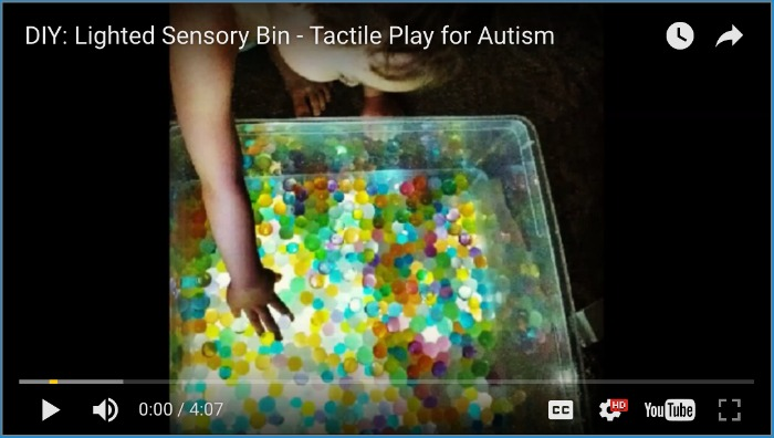 DIY Lighted Sensory Bin - Tactile Play for Autism