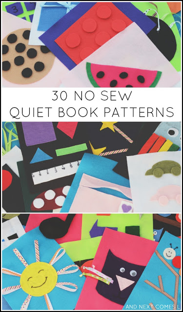 No Sew Quiet Books with Full Patterns - Easy to Make. Fun to play with!