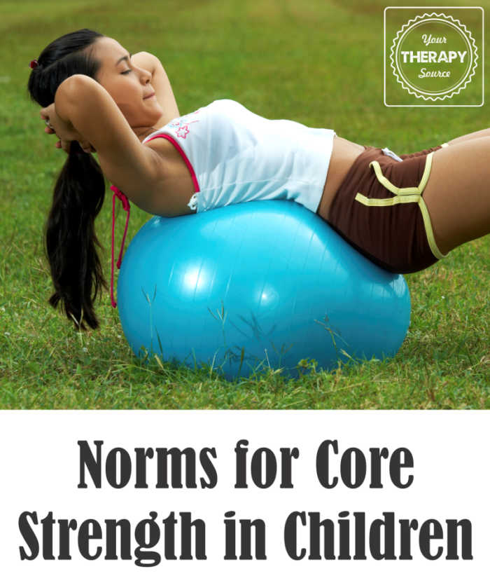 Norms for Core Strength in Children