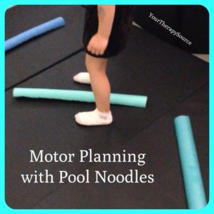 Motor Planning Activity Using Pool Noodles