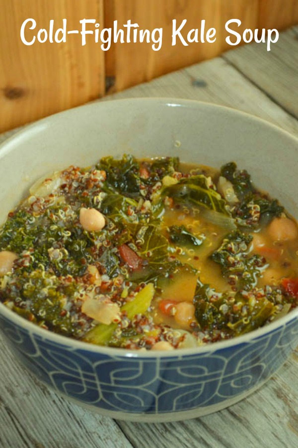 Cold-Fighting Kale Soup is a great soup to fix when you start feeling a cold coming on.