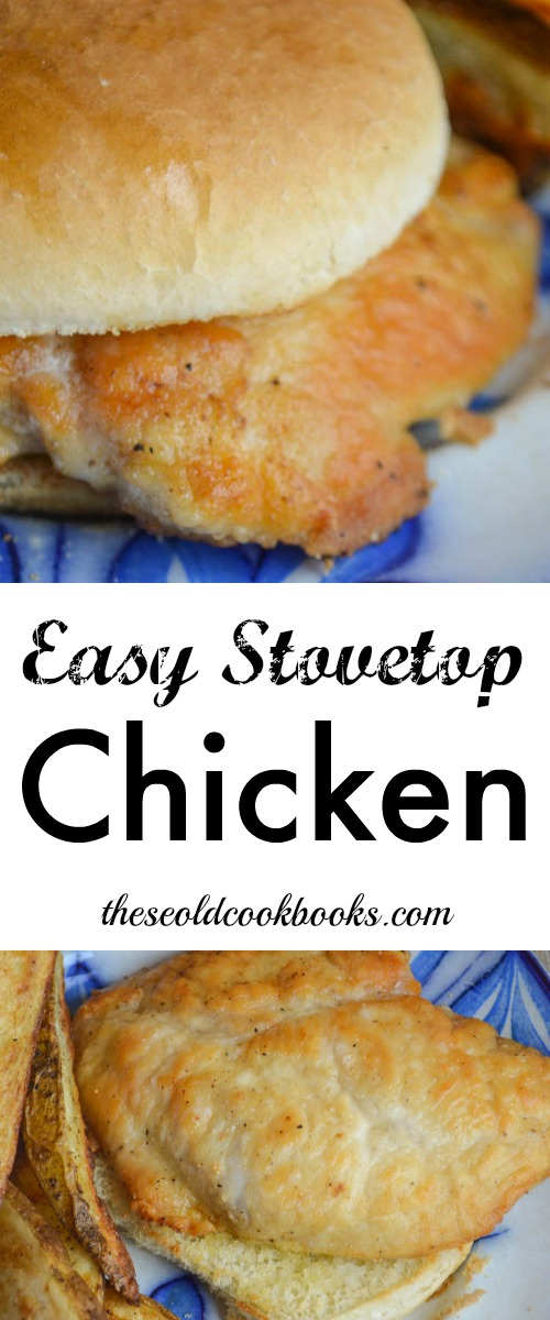 This Easy Stovetop Chicken can be fixed in minutes to make a delicious sandwich or served over pasta with your favorite sauce.