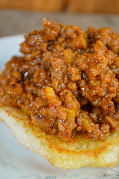 These Classic Sloppy Joes are made with just a few simple ingredients and can be served as a sandwich or used as toppings on a baked potato.