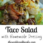 This Taco Salad with Homemade Dressing is perfect for your next pitch-in or as a fun weeknight dinner for the family.