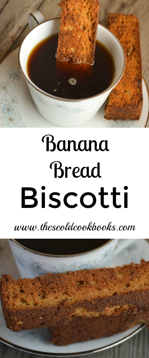 Banana Bread Biscotti is a crunchy, sweet treat to enjoy with your coffee and a great way to use up leftover banana bread.
