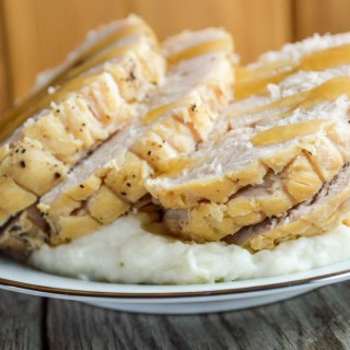 This Crock Pot Turkey Breast is a quick and simple way to take a frozen boneless turkey breast and turn it into a tender, juicy main dish in just a few steps.