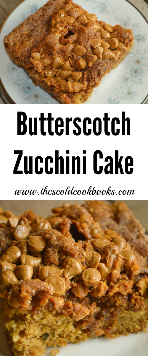 This Butterscotch Zucchini Cake with its crunchy, sugary topping is a go-to option for any cookout, pitch-in or just a mid-week treat.