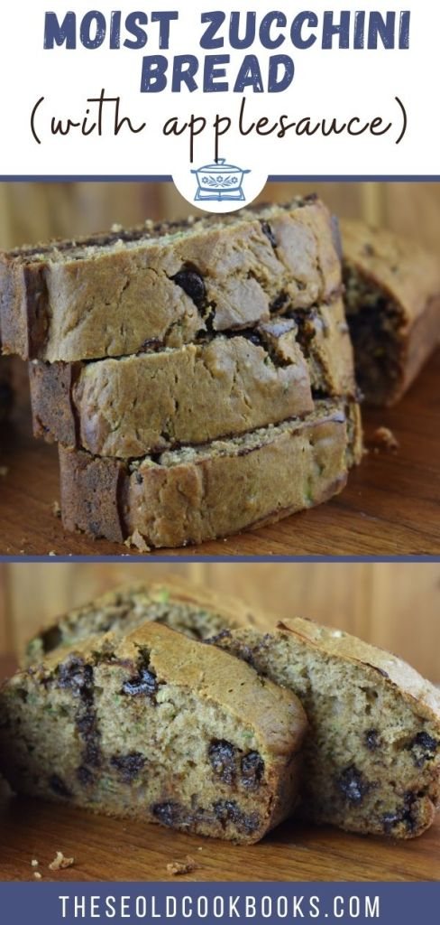 Moist Zucchini Bread with Chocolate Chip is a Zucchini Bread Recipe with Applesauce. Using healthier ingredients such as applesauce, honey and coconut oil takes the guilt out of this delicious bread.